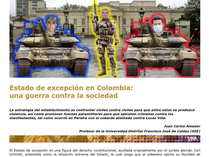 Captura de pantalla de la publicación de en viva.org.co autoría de Juan Carlos Amador