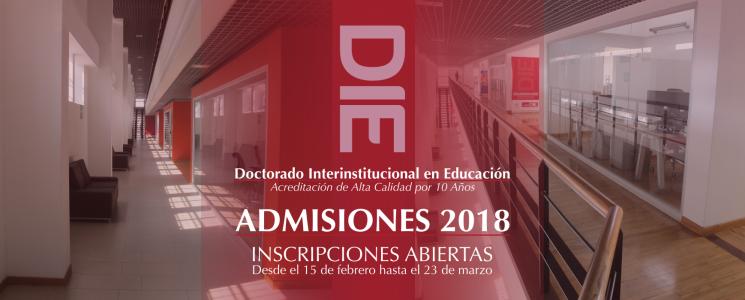 banner de l proceso de admisiones DIE-UD 2018