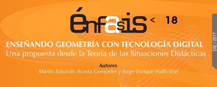 Banner del libro Enseñando geometría con tecnología digital