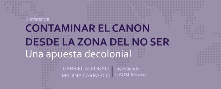 Banner de la conferencia de Gabriel Medina en el DIE-UD