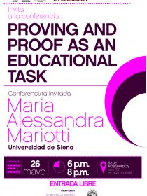 Afiche de la conferencia Proving and proof as an educational task