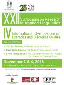 Afiche del evento de The MA in Applied Linguistics to TEFL