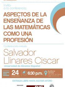 Afiche de la conferencia de Salvador Llinares Ciscar para el Doctorado Interinstitucional en Educación