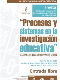 afiche deProcesos y Sistemas en la Investigación Educativa