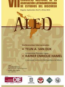afiche de VII Congreso Nacional de Estudios del Discurso