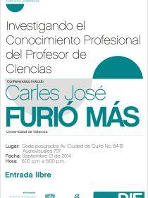 afiche de Investigando el Conocimiento Profesional del Profesor de Ciencias