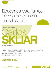 afiche de Educar es Estar-Juntos: Acerca de lo Común en Educación