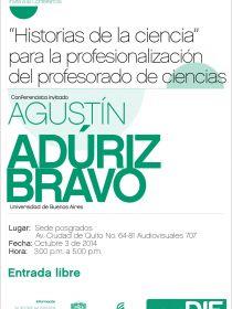 """afiche de """"Historias de la ciencia"""" para la profesionalización del profesorado de ciencias"""