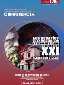 afiche de Los Desafíos de la Universidad Latinoamericana en el Siglo XXI