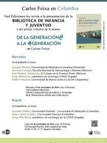 afiche de Conversatorio con Carles Feixa, De la Generación@ a la #Generación