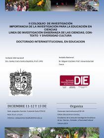 Afiche del II coloquio de investigación - INTERCITEC