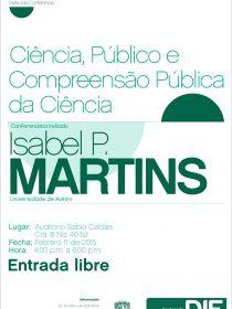 afiche de la conferencia Ciência, Público e Compreensão Pública da Ciência