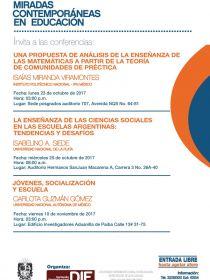 Afiche de las conferencias DIE-UD octubre de 2017