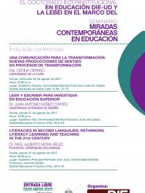 Afiche de las Conferencias del Seminario Miradas Contemporáneas en Educación