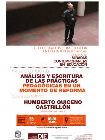 Afiche de la conferencia de Huberto Quiceno 2018