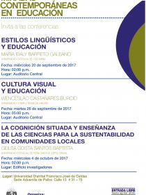 Afiche del Seminario Miradas Contemporáneas en educación