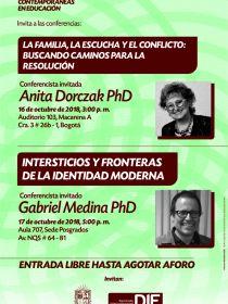 Afiche de las conferencias del Seminario Miradas, mes de octubre