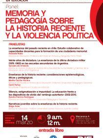 Afiche del panel sobre la historia reciente y la violencia política