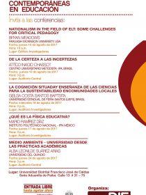 Afiche de las Conferencias del Seminario Miradas Contemporáneas