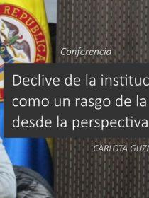 Banner para la conferencia de Carlota Guzmán Gómez