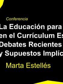 Banner de la conferencia de Marta Estellés en el DIE-UD 2019