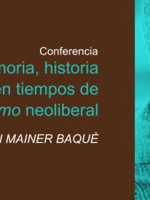 Banner de la conferencia de Juan Mainer Baquè DIE-UD