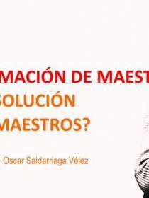 Banner para la conferencia de Oscar Saldarriaga