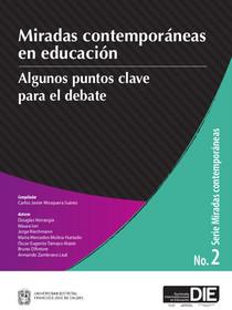 Portada del libro, Miradas Contemporáneas en Educación No. 2, publicaciones DIE