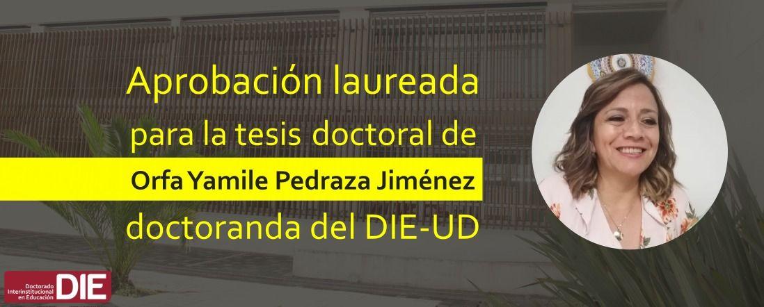 Bannner por calificación laureada a tesis de Yamile Pedraza