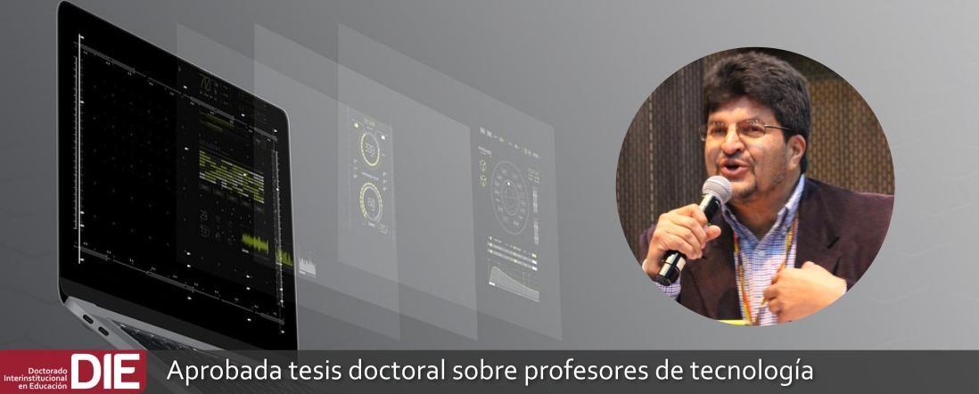 banner por la aprobación de la tesis de Sergio Briceño