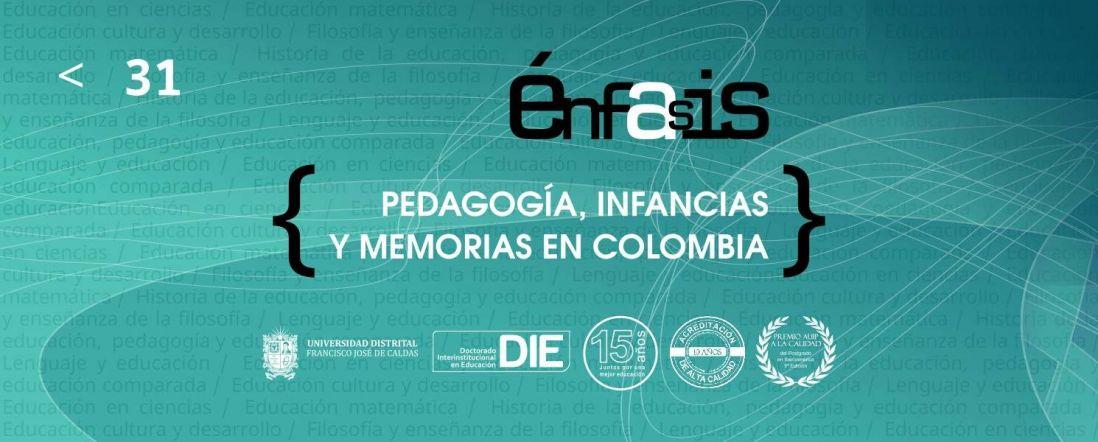 Imagen para rotativo del DIE-UD del libro Pedagogía, infancias y memorias en Colombia