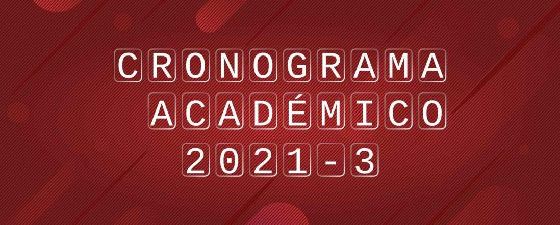 Banner para la publicación del Calendario Académico del DIE-UD periodo 2021-3
