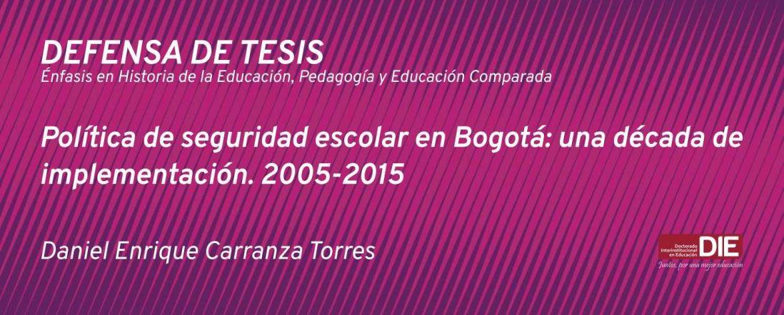 Banner por la Defensa de Tesis Doctoral, Daniel Enrique Carranza