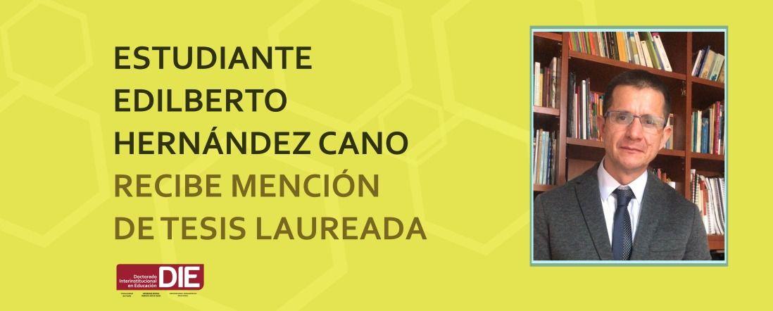 Banner por mención laureada a tesis de Edilberto Hernández