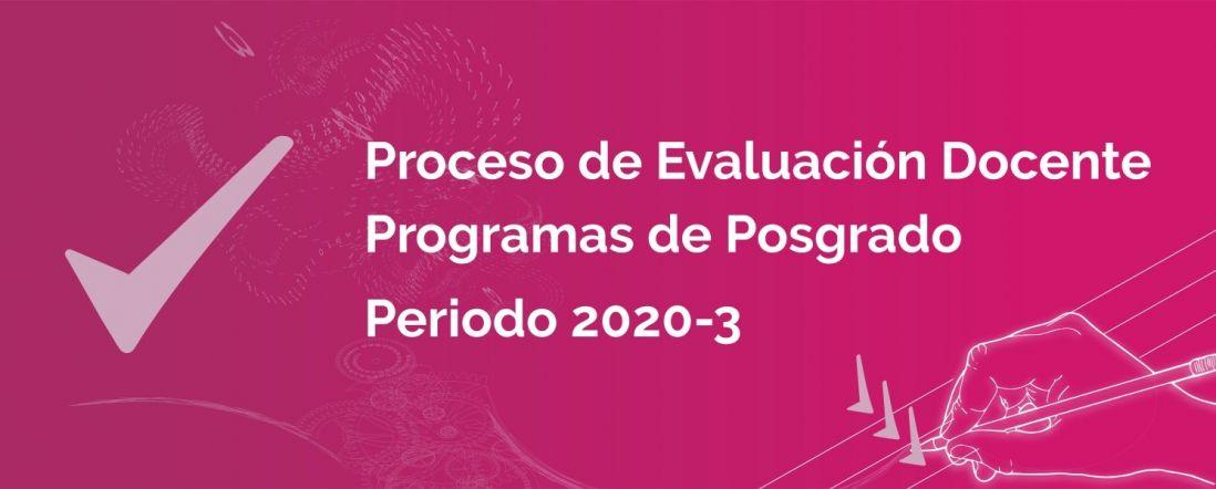 Banner para la evaluación Docente 2020-3