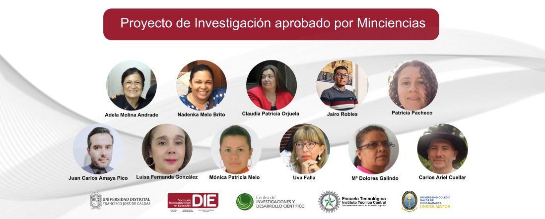 Fotos de los once investigadores que elaboraron el proyecto y logos de instituciones patrocinadoras