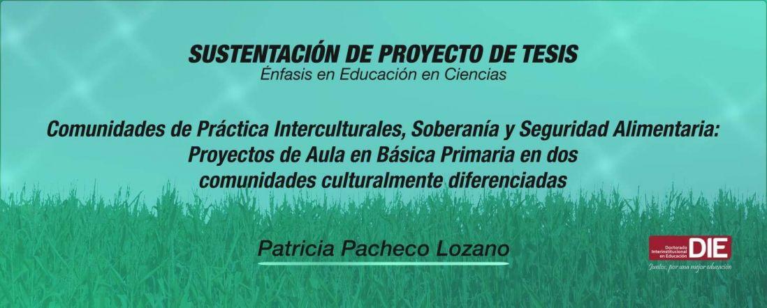 Sustentación pública del Proyecto de Tesis de Clara Patricia Pacheco Lozano