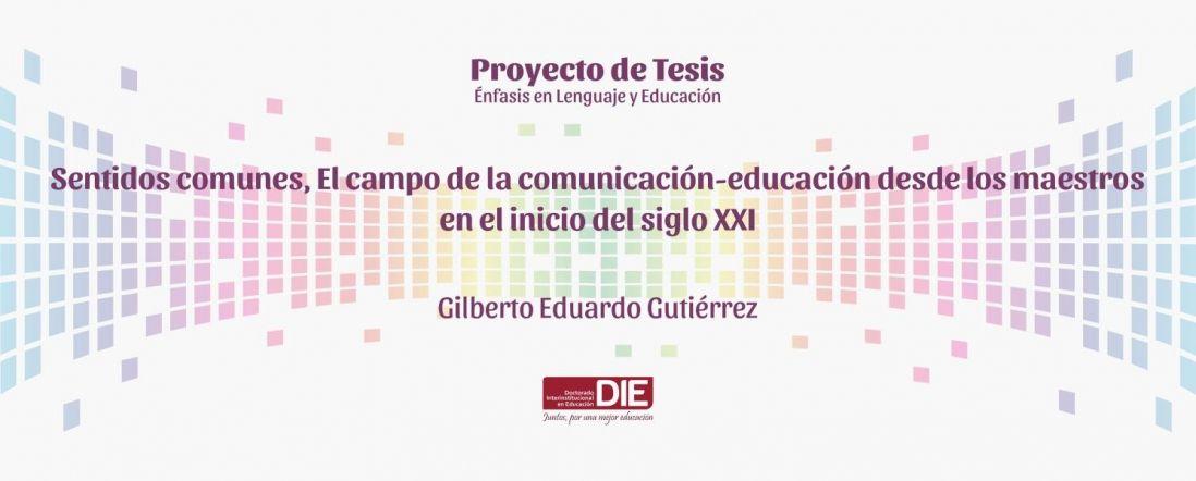 Banner de la Sustentación del Proyecto de Gilberto Gutiérrez