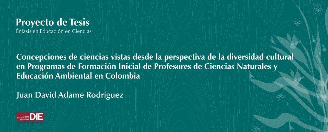 Banner para la sustentación del proyecto de tesis de Juan David Adame