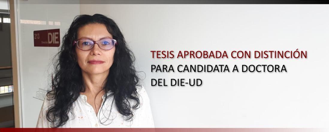 Banner para la noticia: Tesis de Gina Velasco aprobada con distinción