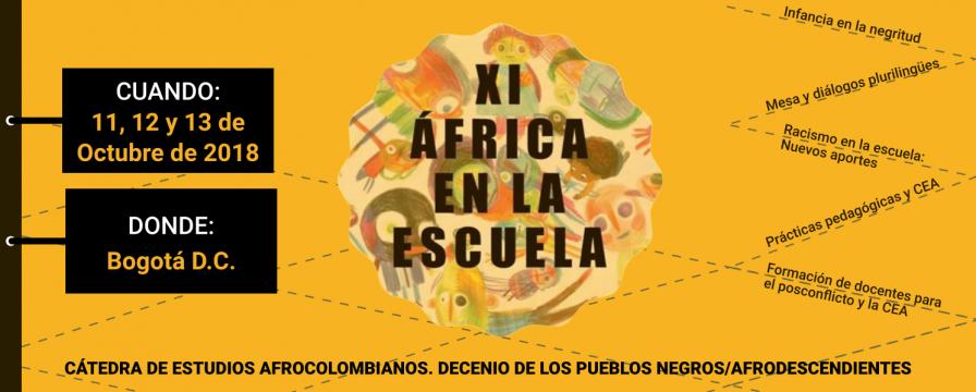 Banner DIE-UD del evento XI África en la Escuela