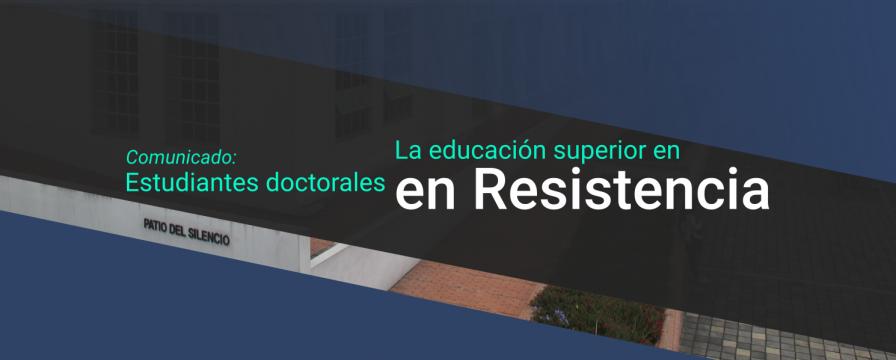 Banner por el Comunicado de Estudiantes del DIE-UD