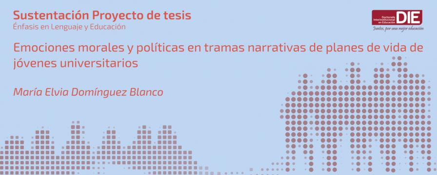 Banner por la Sustentación de Proyecto de María Elvia Domínguez