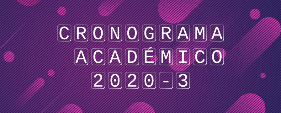 Banner para Calendario Académico 2020-3 DIE-UD