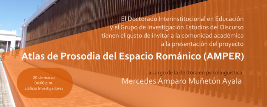 Banner de la conferencia Atlas de Prosodia del Espacio Románico