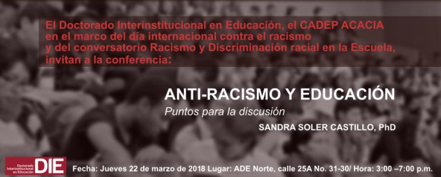 Banner Anti-Racismo y Educación