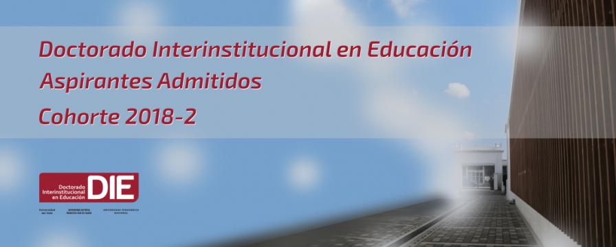 Banner por la publicación de los admitidos cohorte 2018-2