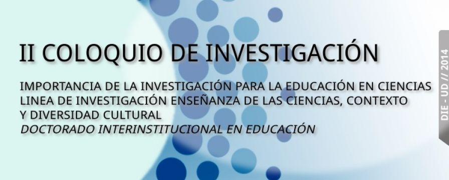 banner de divulgación del II coloquio de investigación - INTERCITEC