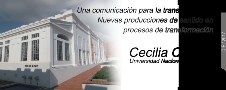 Banner de la conferencia de Cecilia Ceraso