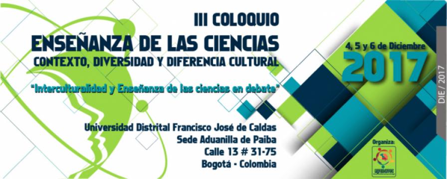 Banner del III Coloquio de Investigación Enseñanza de las Ciencias